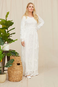 The White Abelia Dress
