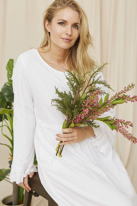 White Amaryllis Dress