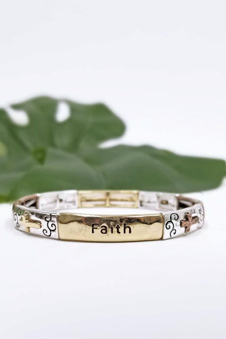 Faith Hope Love Blessed Bracelet