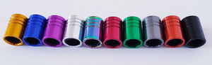 FORD Neo Chrome Huge alloy Metal Valve dust caps with Plastic Insides in 10 colours NON STICK for all models
