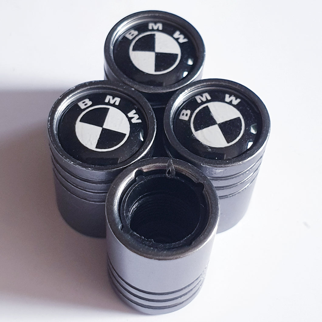 BMW Huge alloy Metal Valve dust caps with Plastic Insides in 10 colours NON STICK for all models