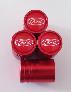 FORD Huge alloy Metal Valve dust caps with Plastic Insides in 10 colours NON STICK for all models