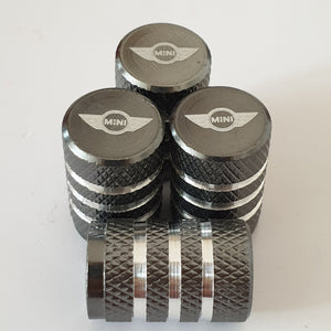 MINI laser engraved alloy Metal Valve dust caps with  for all models 4 Colours while Stocks last