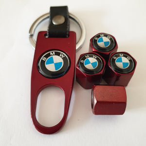 BMW blue logo VALVE CAPS HEXI STYLE 12MM 9 COLOURS for ALL models with Spanner/Keychain