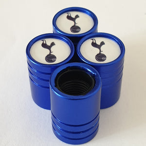 TOTTENHAM HOTSPUR SPURS Huge alloy Metal Valve dust caps with Plastic Insides in 10 colours NON STICK for all Cars Bikes Scooters