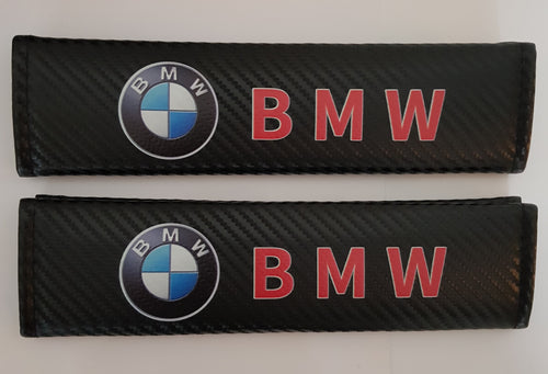 BMW CARBON FIBER SET OF SEAT BELTS PADS STUNNING EXTRA