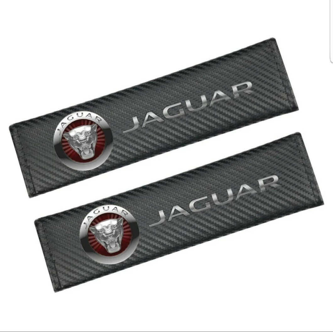 New Jaguar Growler CARBON FIBER SET OF SEAT BELTS PADS STUNNING EXTRA