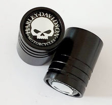 Load image into Gallery viewer, HARLEY DAVIDSON Huge alloy Metal Valve dust caps with Plastic Insides in 10 colours NON STICK for all models SET OF 2 CAPS