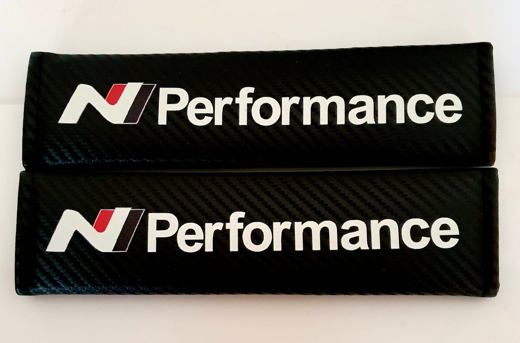 HYUNDAI Performance N LINE Seat Belt Pads N logo for all models Carbon Fiber Tucson Kona i30 130N