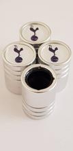 Load image into Gallery viewer, TOTTENHAM HOTSPUR SPURS Huge alloy Metal Valve dust caps with Plastic Insides in 10 colours NON STICK for all Cars Bikes Scooters