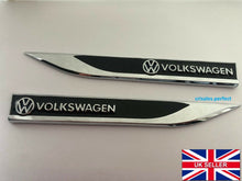 Load image into Gallery viewer, VW VOLKSWAGEN Emblem Badge Sticker Wing Fender Metal Black or Red Beetle T5 T4 T6 POLO