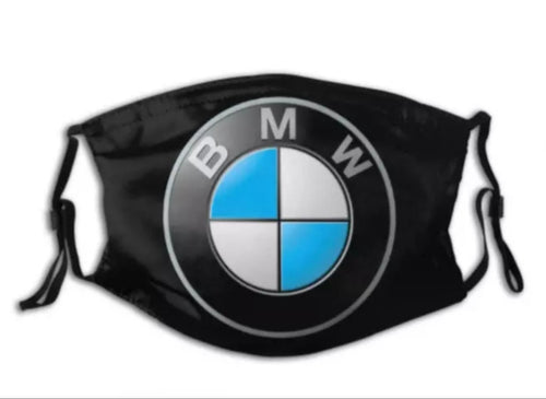 BMW Face Mask with 2 filters Excellent Adult Cotton Breathable