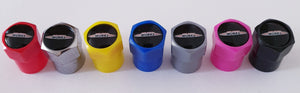 MINI JOHN COOPER WORKS NON STICK PLASTIC VALVE CAPS HEXI STYLE 12MM 7 COLOURS all models
