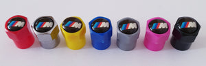 BMW M3 NON STICK PLASTIC VALVE CAPS HEXI STYLE 12MM 7 COLOURS all models