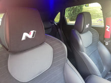 Load image into Gallery viewer, 1 X  HYUNDAI N LINE Headrest Cover N logo for all models BLACK Tucson Kona i30 130N