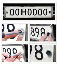 Load image into Gallery viewer, Porsche license Plate Bolts 4 colours 15mm  3d Domed Logos with Screws.