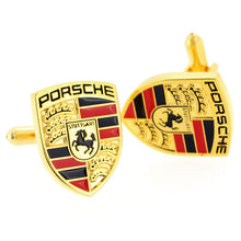 Load image into Gallery viewer, PORSCHE GOLD CUFF LINKS STUNNING EXTRA