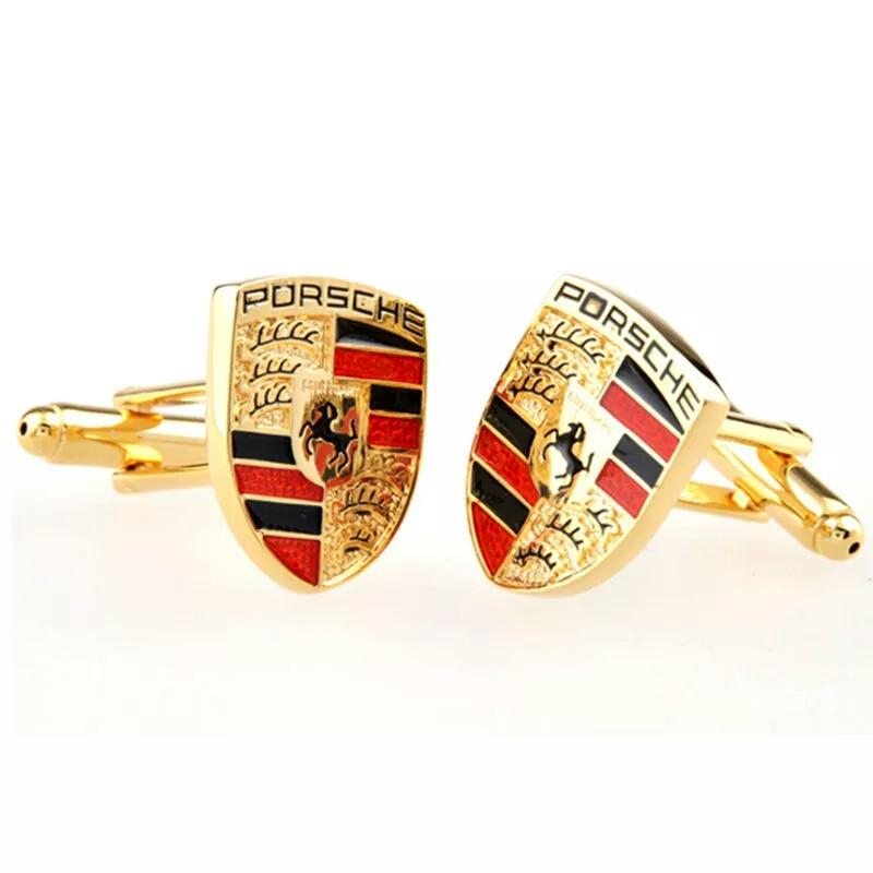 PORSCHE GOLD CUFF LINKS STUNNING EXTRA