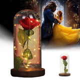Beauty And Beast LED Rose Flower Light Glass - ZZgeeks