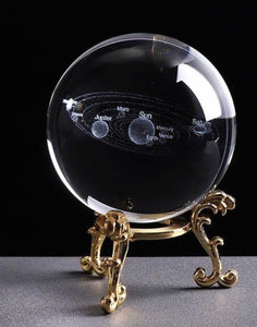 3D Solar System Crystal Ball - ZZgeeks