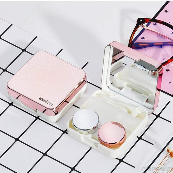 Premium Circle Contact Lens Box with Mirror - ZZgeeks