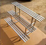 3 Tier - 120cm Stainless Steel Plant Stands