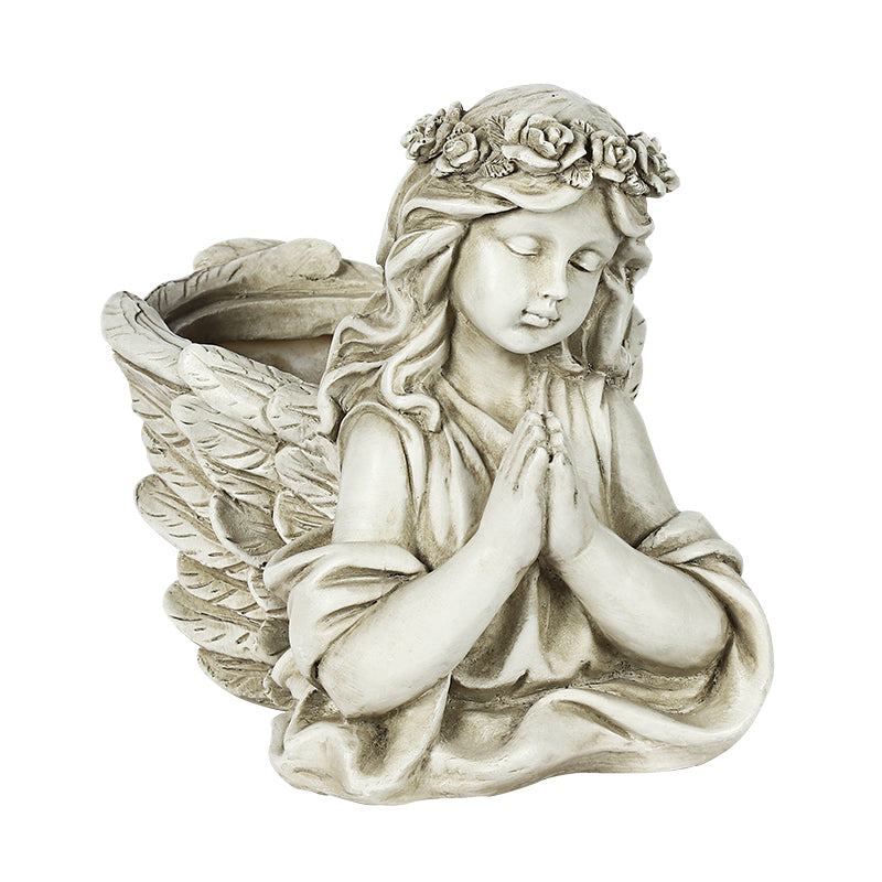 Little Angel Resin Garden Pot