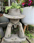 Girl and Hat - Resin Planter Garden Feature