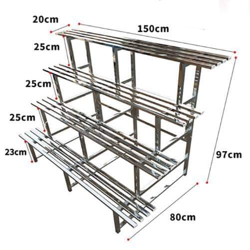 4 Tiers Stainless Steel Plant Stand