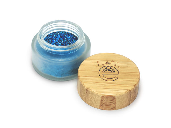 Plant Based Biodegradable Glitter EARTHSHINE blue sapphire