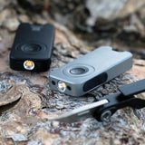 TL MICRO: Ultra-Compact LED Keychain Touch-Sensor Flashlight Dapper Design, LLC Gray
