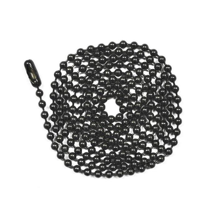 Black Bead Ball Chain Necklace