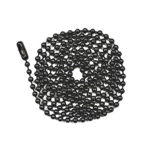 Black Bead Ball Chain Necklace Dapper Design, LLC