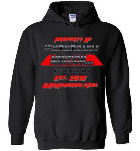 An Honorable Mention Logo Hoodie (Black & Red)