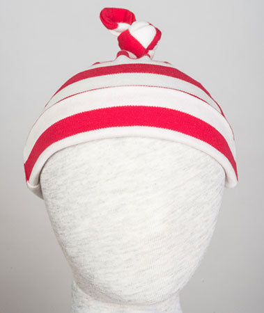 Beanie aus Baumwolle, red-stripes