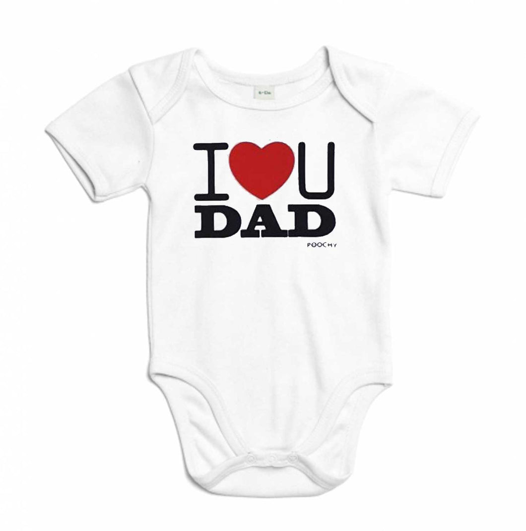 Body aus Bio-Baumwolle, I love you dad, white