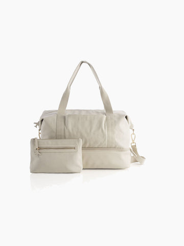 Mel Travel Bag & Zip Pouch Set In Ivory