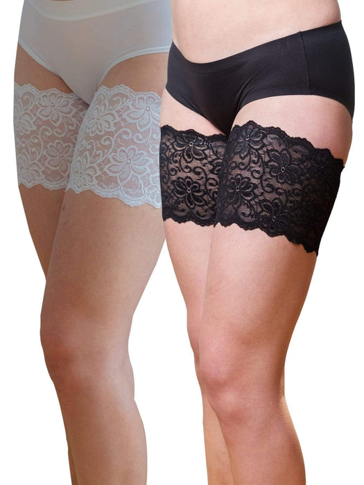 Bandelettes White Dolce & Black Dolce Thigh Band Bundle