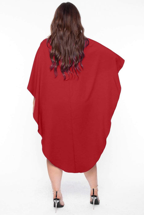 Bump Biddy Maternity Ember Cape Mini Dress - Wine