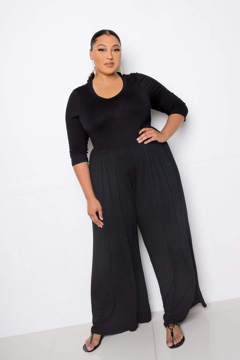 Buxom Couture Supersoft Scooped Neck Jumpsuit