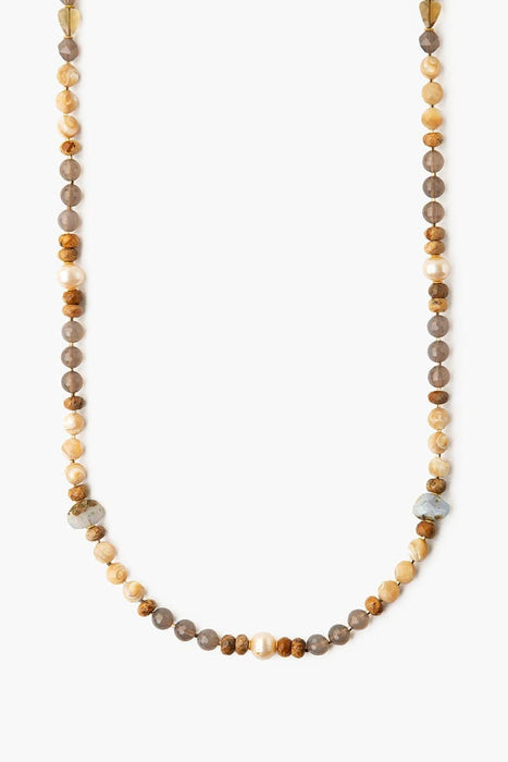 Chan Luu Long Layering Necklace Grey Onyx Mix Grey Onyx Mix