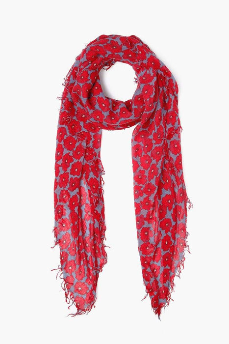 Chan Luu Modern Pop Floral Cashmere Silk Scarf English Manor