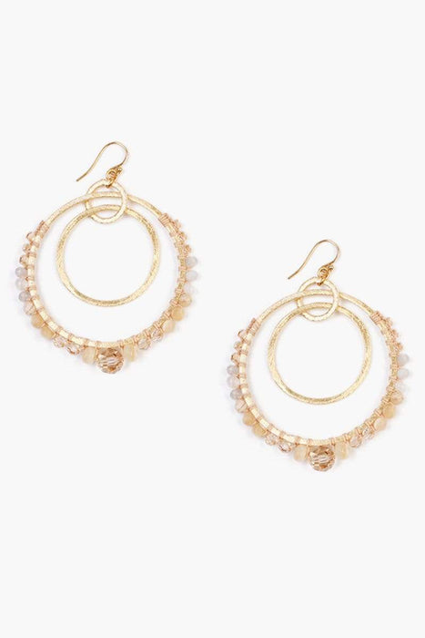 Chan Luu Natural Mix Statement Earrings Natural Mix