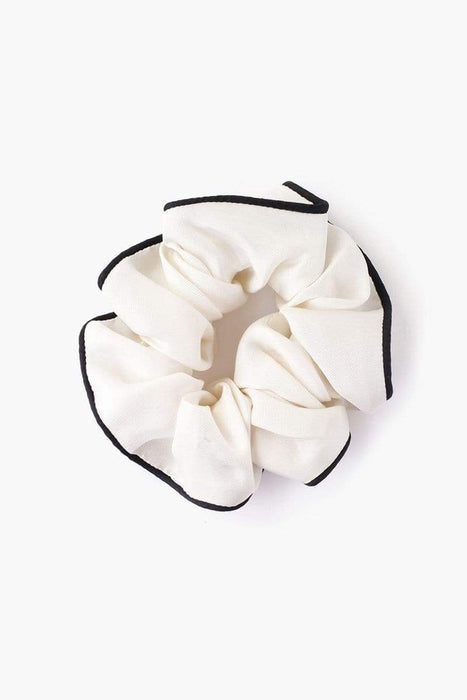 Chan Luu Silk Twill Scrunchie Antique White