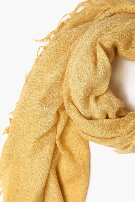 Chan Luu Solid Color Cashmere Scarf Harvest Gold