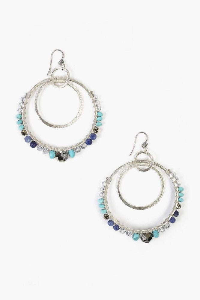 Chan Luu Turquoise Mix Statement Earrings Turquoise Mix