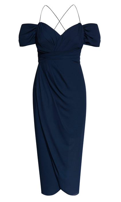 City Chic Entwine Maxi Dress - Navy