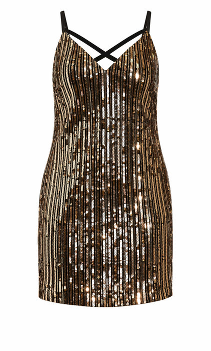 CITY CHIC Glam Nights Dress - rose gold