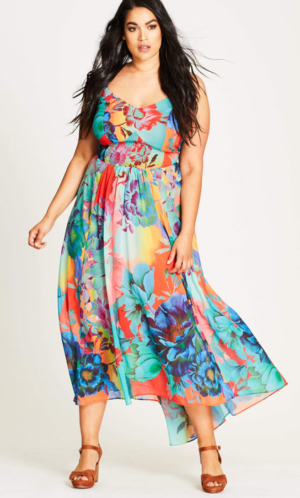 City Chic Hot Summer Days Maxi Dress 14 / XS