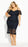 City Chic Impressions Dress - navy